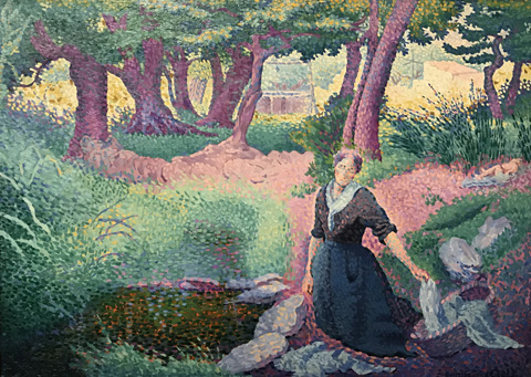 Henri Edmond Cross, The Washerwoman, 1895 Private Collection