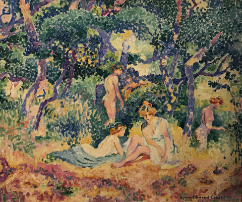 Henri Edmond Cross, Under the Oak Leaves, 1906-07 The Couturat Collection