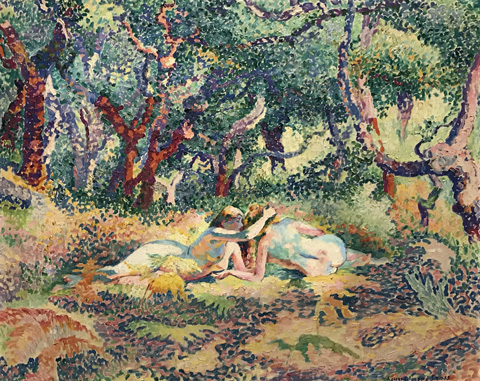Henri Edmond Cross, Two Nudes under the Cork Oaks, 1906-07 The Couturat Collection