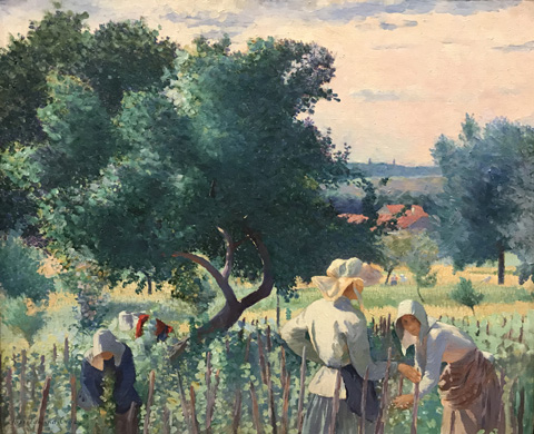 Henri Edmond Cross, Women Tying the Vines, 1890 Museo Nacional Thyssen-Bornemisza, Madrid, Spain