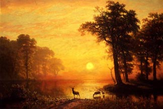 Haggin Museum Albert Bierstadt  Evening on Oneida Lake