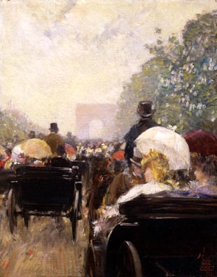 Haggin Museum Childe Hassam Carriage Parade