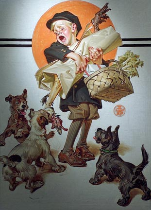 Joseph Christian Leyendecker Bringing Home the Christmas Goose