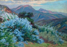 Arthur Merton Hazard Lupines on a California hillside, 1923 Midsized Thumbnail