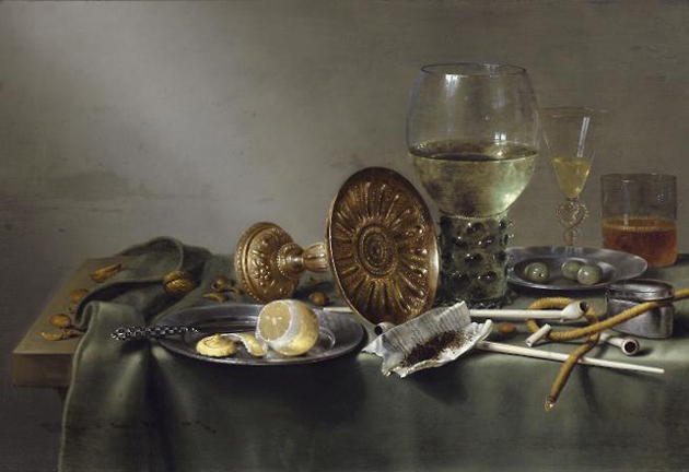 Still Life with Glasses and Tobacco Willem Claesz Heda