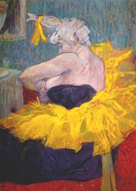 Henri de Toulouse-Lautrec 1864-1901,  The Clowness, Cha-U_Kao at the Moulin Rouge, 1895
