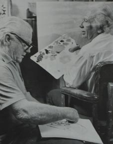 James Cagney and John W Hilton Painting Together