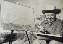 John W Hilton Plein Air with Palette