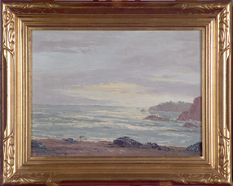 John W Hilton Seascape with Frame