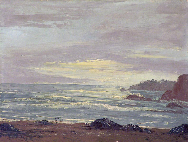 John W Hilton Seascape at Evening