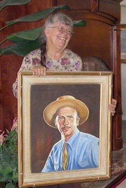 Kathi Hilton and Portrait of John W Hilton