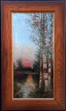 Ransome Holderidge Birch Trees at Sunset Midsized Thumbnail