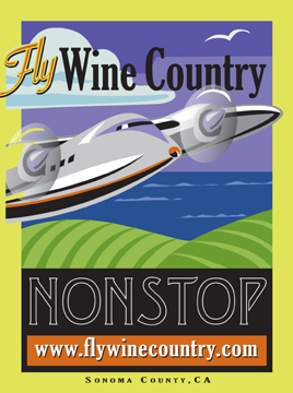 Fly Wine Country Logo Horizon Air