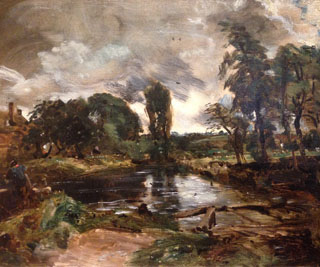 John Constable Flatford Mill from the Lock oil sketch