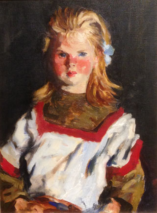 Huntington Library Irish Girl by Robert Henri