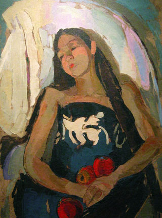 Madge Tennent Girl with Apples