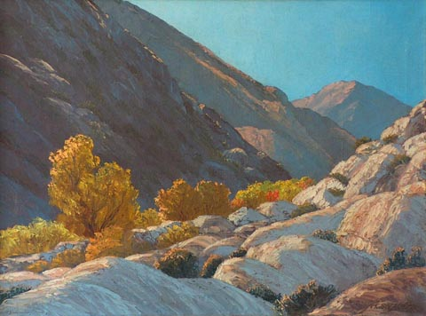 Fall in the Canyon, Anza-Borrego State Park John W. Hilton 1904-1983 oil on canvas, 18 x 24