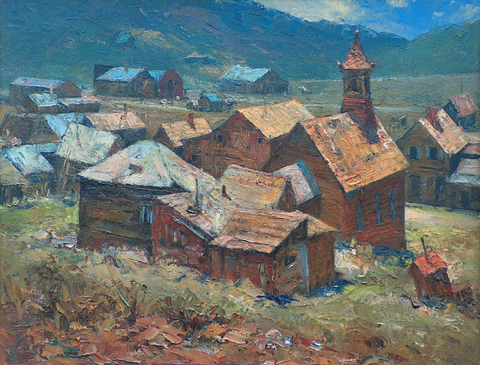 Song of Bodie 1974 Ralph Love 1907-1992 oil on canvas, 14 x 18