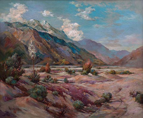 The Edge of the Desert Frances Upson Young 1870-1950  oil on cavas, 25 x 30