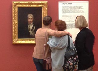 Vistors to the Tate Britain and JMW Turner's Self Portrait