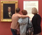 Visitors to the Tate Britain with JMW Turner Self Portrait