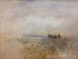 JMW Turner A Wreck with Fishing Boats