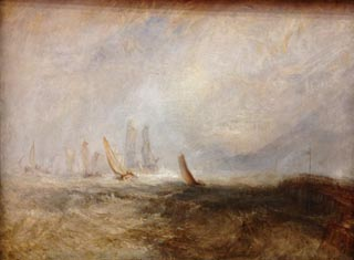 JMW Turner Fishing Boats Bringing a Disabled Ship into Port Ruysdael