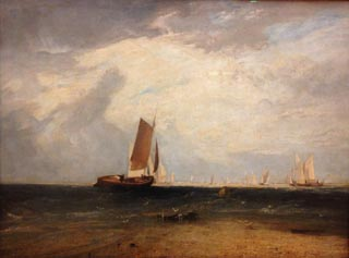 JMW Turner Fishing upon the Blythe Sand Tide Setting In