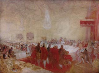 JMW Turner George IV at the Provosts Banquet in the Parliament House in Edinburgh