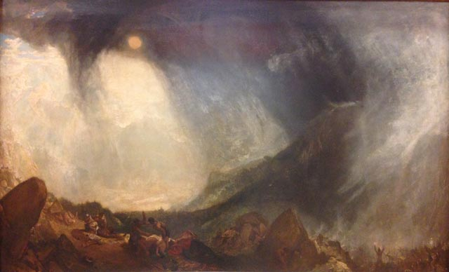 JMW Turner Hannibal and his Army Crossing the Alps