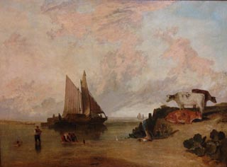 JMW Turner River Scene with Cattle