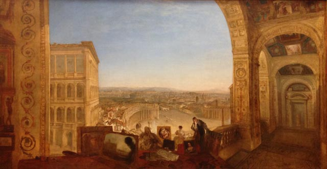 JMW Turner Rome from the Vatican Raffaelle preparing paintings for the Logia