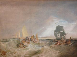 JMW Turner Shipping at the Mouth of the Thames