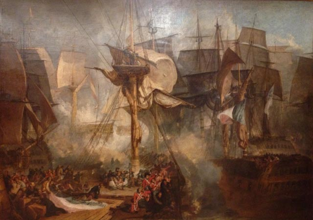 JMW Turner The Battle of Trafalgar