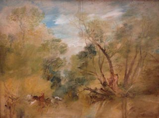 JMW Turner Willows Beside a Stream