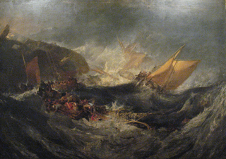 JMW Turner Wreck of a Transport Ship