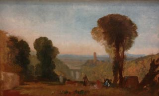 JMW Turner Italian Landscape with Bridge and Tower