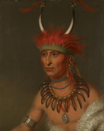 Charles Bird King Ottoe Half Chief Husband of Eagle of Delight 1822