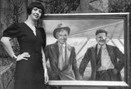 Orpha Klinker and Portrait of Will Rogers and Wiley Post