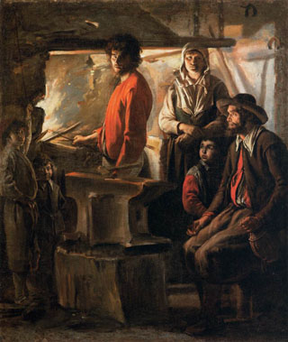 Blacksmith at His Forge, 1640 Louvre Museum, Paris