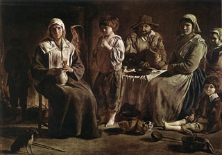 Peasant Family in an Interior, between 1625-1548 Louvre Museum, Paris