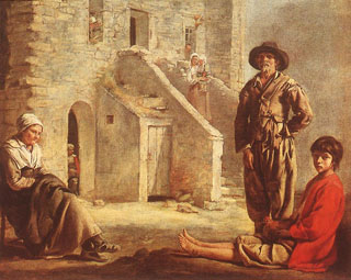 Peasants at their Cottage Door, 1640's Fine Art Museums of San Francsico
