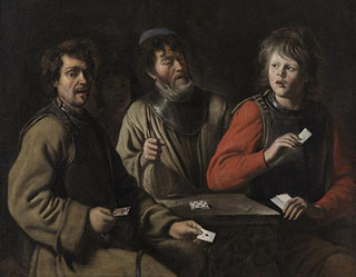 The Card Players, 1640-45 Musee Granet, Aix-en-Provance, France