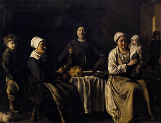 The Happy Family, 1642 Louvre Museum, Paris