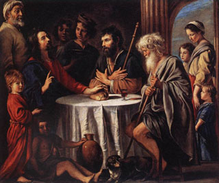 Supper at Emmeus, 1645 Louvre Museum, Paris