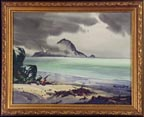 Robert Landry Beach Scene with Seagull Thumbnail