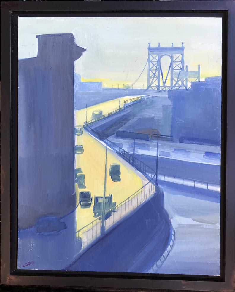 Maury Lapp Manhattan Bridge with black floater frame
