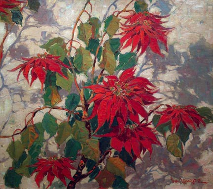 Paul Lauritz Poinsettias Irvinve Museum