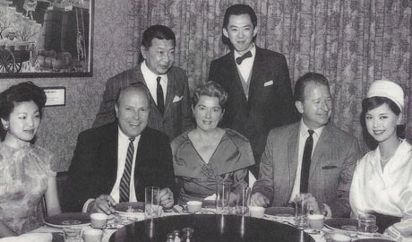 Jake Lee in Photo with Herb Caen