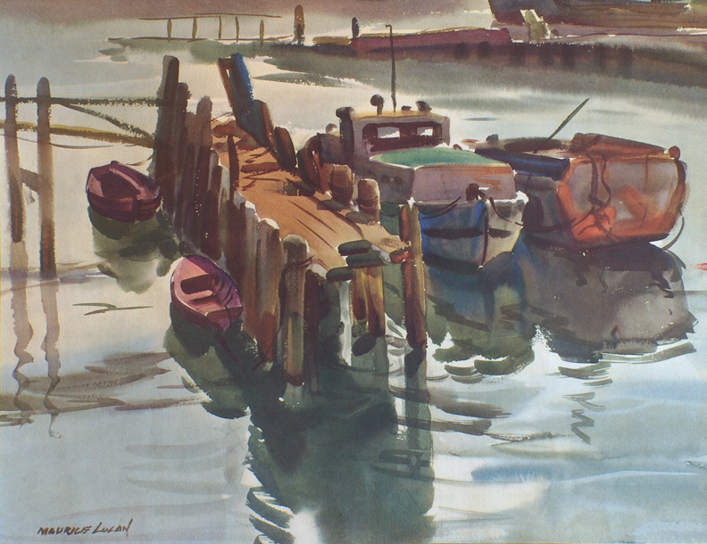 Charles Graham Print Dockside Calm